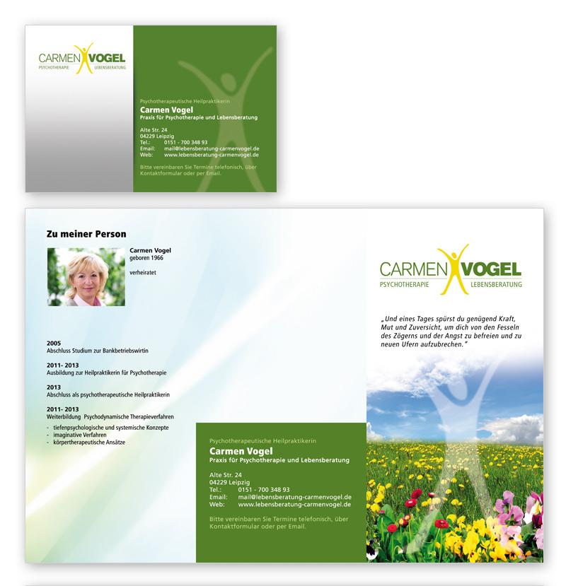 Lebensberatung - DIN lang Flyer Gestaltung, Visitenkarte, Logodesign