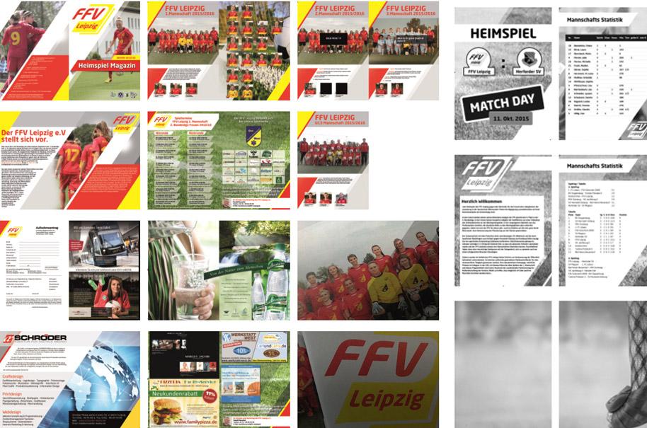 FFV Leipzig - DIN A5 Prospekt, Heimspiel Magazin (2 wöchentlich), Eintrittskarten