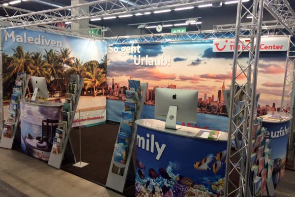 TUI Reise Center Konstanz - Messestand Gestaltung, exhibition booth design