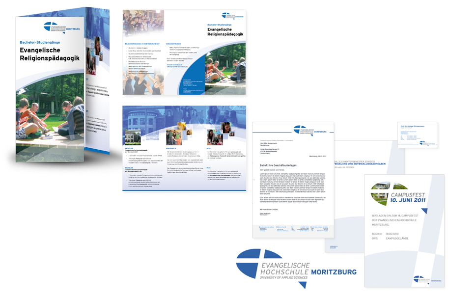 Hochschule Moritzburg - Gestaltung Design Flyer DIN lang, Visitenkarten, Briefpapier, Infoblätter, Posterdesign, Logodesign