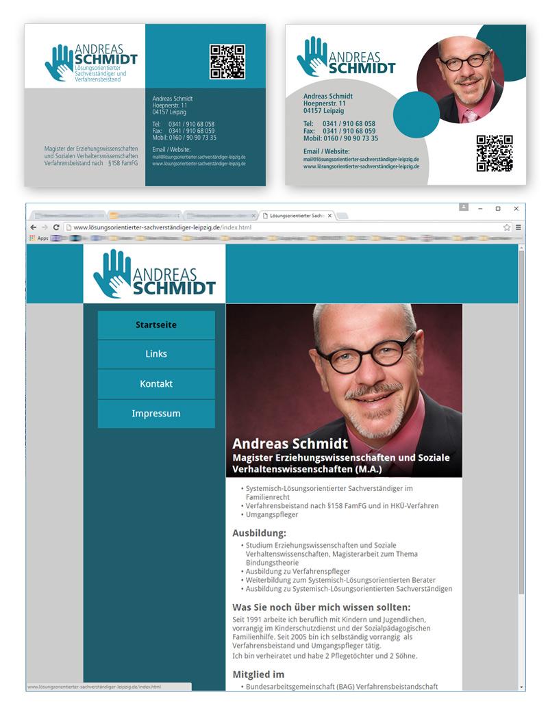 Verfahrensbeistand Andreas Schmidt - Design Visitenkarte, Logodesign