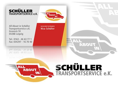 Schüller Transportservice - Visitenkarte Design, Logodesign